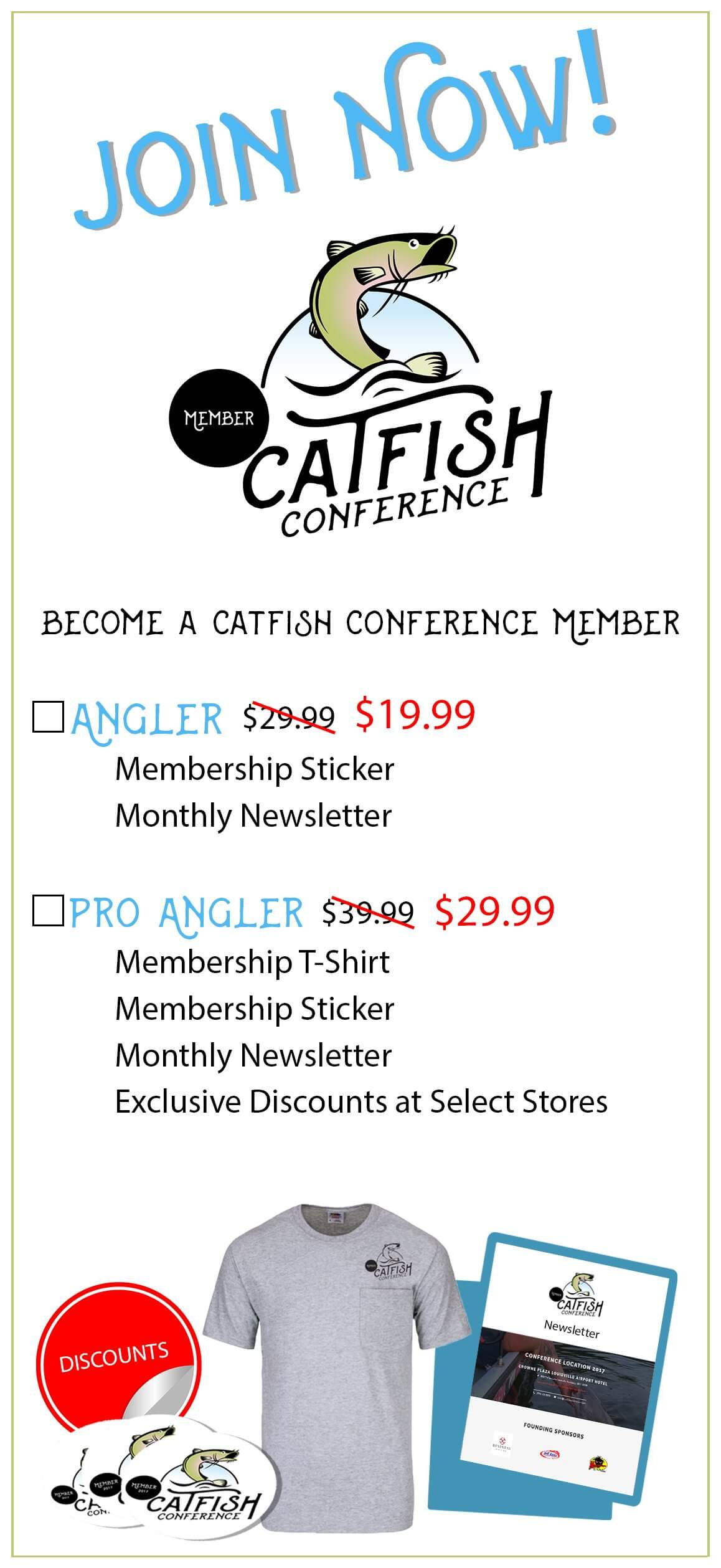 Catfish Conference Pro Angler Membership Catfish Membership Rack Card Front V 4