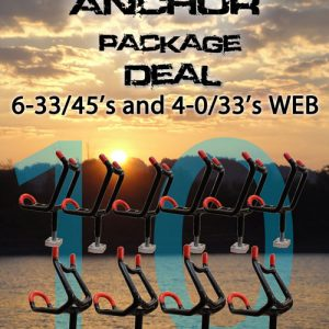 PRO ANCHOR ROD HOLDER PACKAGE DEAL (6-33/45 4-0/33) monster rod holder anchor1 300x300